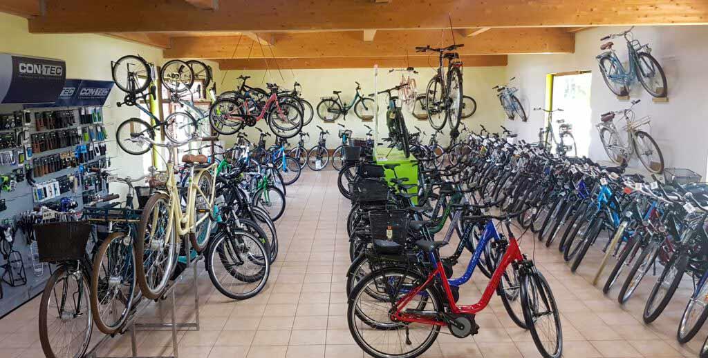 Verkaufsfläche Fahrrad Goyn KG Fahrrad Fachhandel in Lübbenau im Spreewald